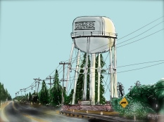 Merced Water Tower