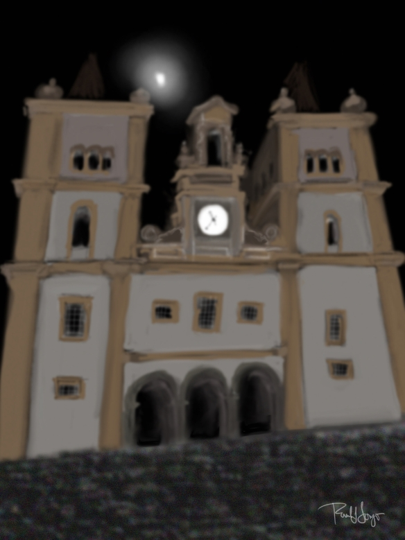 Sé Cathedral and Moon