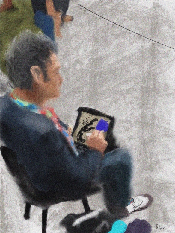 A quickie of Maestro Jeremy Sutton in Procreate during the reception after the Grand Opening.