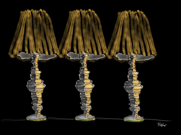 Three Lamps